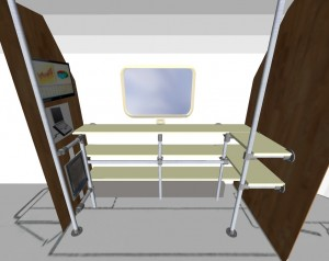 Airstream Office Plan (Google Sketchup)